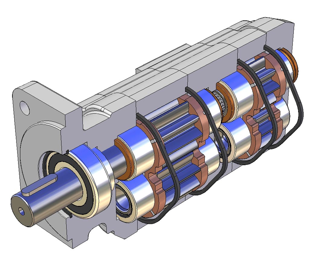 GPM 3D Drawing of a Gear Pump-1