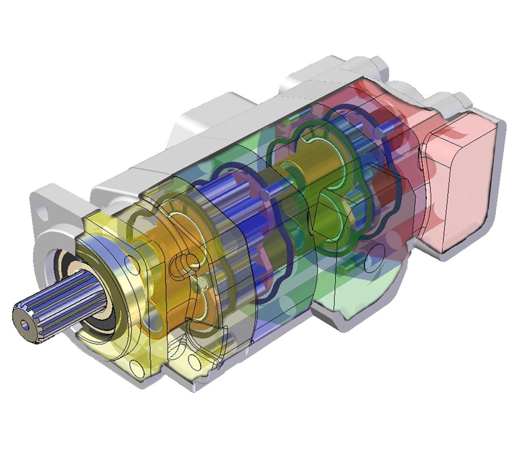 GPM 3D Drawing of a Gear Pump-2
