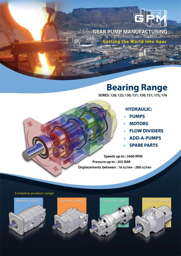 GPM Bearing Range Gear Pumps Brochure