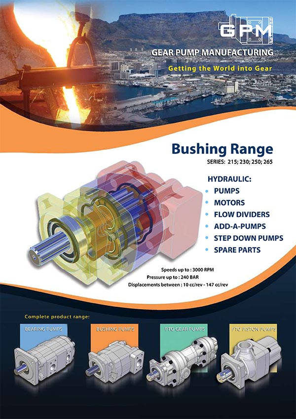 GPM Bushing Range Gear Pumps Brochure